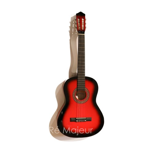 Jago Classic Guitar Red 4/4
