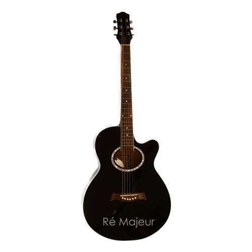 E.Manuel Fernando Acoustic Guitar Black